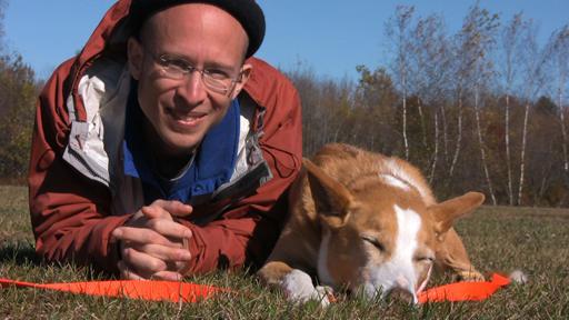 Neil Sattin and his dog Nola